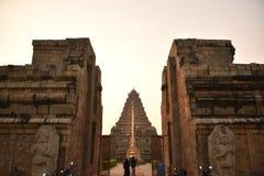 Brihadisvara świątynia, Gangaikonda Cholapuram, tamil nadu obraz stock