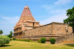 Brihadisvara świątynia, Gangaikondacholapuram, tamil nadu, India Południowo-wschodni widok Obrazy Royalty Free