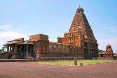 Brihadisvara Temple and Chandikesvara shrine, Tanjore, Tamil Nadu, India. View from North East royalty free stock photos