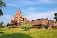 Brihadisvaratempel, Gangaikondacholapuram, Tamil Nadu, India Royalty-vrije Stock Fotografie