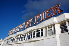Pier sign. Brighton UK Stock Image