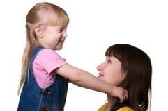 Brij en dochter Stock Foto's