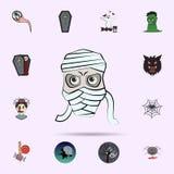 brij gekleurd pictogram Halloween-voor Web wordt geplaatst dat en mobiel pictogrammenalgemeen begrip royalty-vrije illustratie