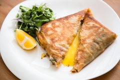 Brik, egg and tuna turnover Royalty Free Stock Image