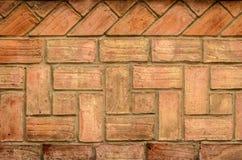 Brik Wall i terracota Arkivbilder