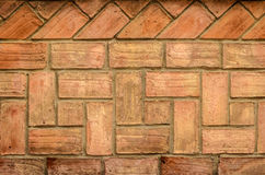 Brick Wall in terracota color - texture Stock Images