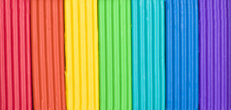 Briketten van plasticine van kinderen Royalty-vrije Stock Afbeelding