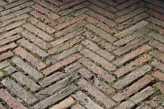 Bricks herringbone pattern royalty free stock photography
