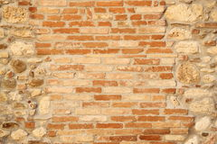 Briks between stones Royalty Free Stock Photography
