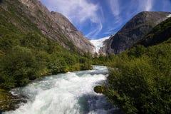 briksdal παγετώνας Νορβηγία Στοκ Εικόνα