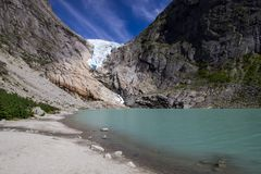 briksdal παγετώνας Νορβηγία Στοκ φωτογραφίες με δικαίωμα ελεύθερης χρήσης