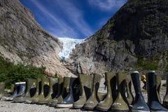 briksdal ледник Норвегия Стоковая Фотография RF