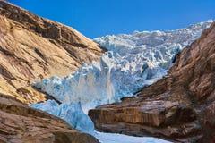 Briksdal glaciär - Norge Fotografering för Bildbyråer