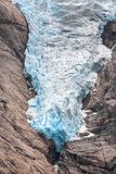 Briksdal glaciärtunga Royaltyfri Bild