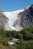 Briksdal Glacier in Norway. Famous glacier Briksdalsbreen located in Norway Royalty Free Stock Photos