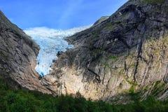 Briksdal glacier, Norway. Briksdal glacier, close-up, Olden, Norway royalty free stock photos