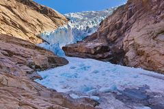 Briksdal glacier - Norway. Nature and travel background royalty free stock image