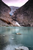 Briksdal glacier reflections Royalty Free Stock Images