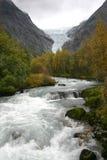 briksdalbreen glaciären Royaltyfri Fotografi