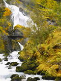 Briksdalen Valley Waterfalls Briksdal Norway Stock Image