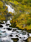 Briksdalen Waterfalls Briksdal Landscape Norway Stock Photos