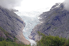 Briksdalesbreen Sogn og Fjordane Norway. Stock Photos