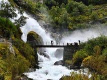 Briksdalsbreen glaciär i Norge royaltyfria bilder