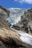 briksdalsbreen glaciären royaltyfria foton