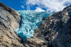 Briksdalsbreen glacier close view Stock Image