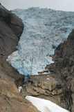 Briksdalsbreen Glacier in Jostedalsbreen, Norway Royalty Free Stock Photography