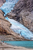Briksdalsbreen glacier in Norway Royalty Free Stock Images