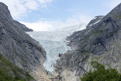 Briksdalsbreen glacier at summer in Jostedalsbreen National Park in Norway. Stock Images