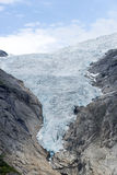 Briksdalsbreen glacier at summer in Jostedalsbreen National Park in Norway. Royalty Free Stock Photography