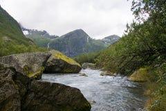 Briksdalsbreen, Sogn og Fjordane, Norway Stock Images