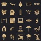 Bril geplaatste pictogrammen, eenvoudige stijl vector illustratie