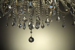 Brilant cut glass chandelier Stock Images