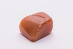 Brilhante precioso mineral da joia alaranjada da gema de pedra preciosa Imagem de Stock