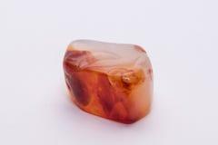 Brilhante precioso mineral da joia branca alaranjada vermelha da gema de pedra preciosa Fotos de Stock