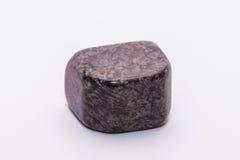 Brilhante precioso mineral da joia listrada marrom roxa da gema de pedra preciosa Fotografia de Stock