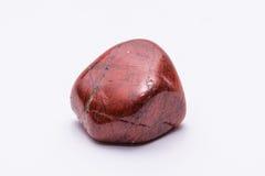 Brilhante precioso mineral da joia listrada vermelha da gema de pedra preciosa Imagens de Stock
