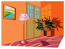 Brilhantemente interior bonito do quarto Imagens de Stock Royalty Free