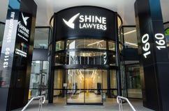 Brilhe a matriz dos advogados em Brisbane central, Austrália Imagem de Stock
