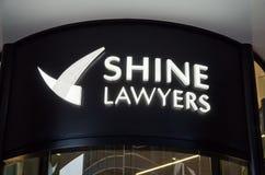 Brilhe a matriz dos advogados em Brisbane central, Austrália Foto de Stock Royalty Free