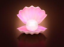 Brilho branco da pérola Imagem de Stock Royalty Free