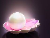 Brilho branco da pérola Imagens de Stock