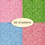 Brilho brilhante colorido, grupo de testes padrões sem emenda ilustração stock