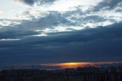 Brilho claro do sol alaranjado fotos de stock