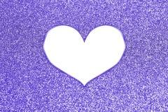 Brilho colorido abstrato com quadro do coração Fotografia de Stock