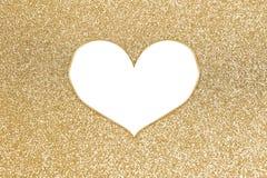 Brilho colorido abstrato com quadro do coração Fotos de Stock Royalty Free