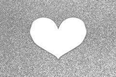 Brilho colorido abstrato com quadro do coração Imagem de Stock